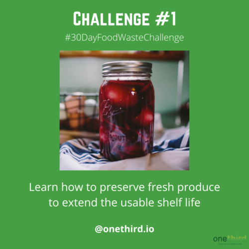 30 day food waste challenge 1