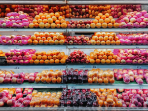 various fruits for sale at a grocery store