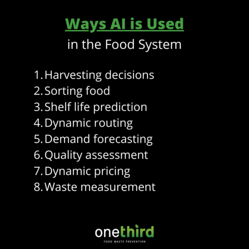 ways AI is used in food system