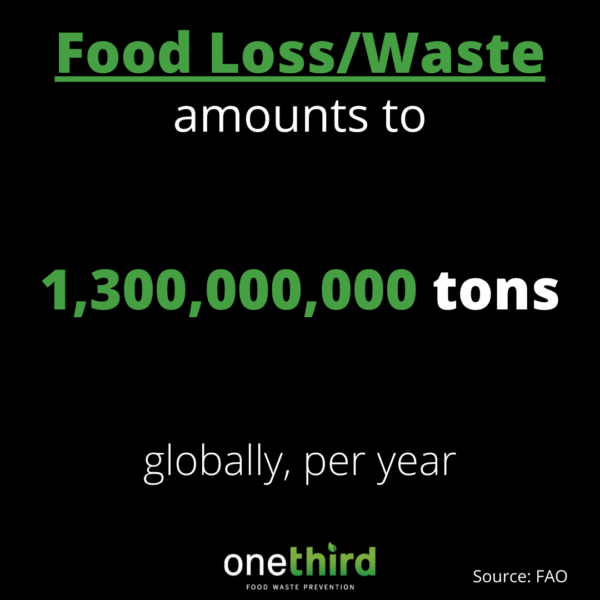 global food waste and loss per year is 1.3 billion tons