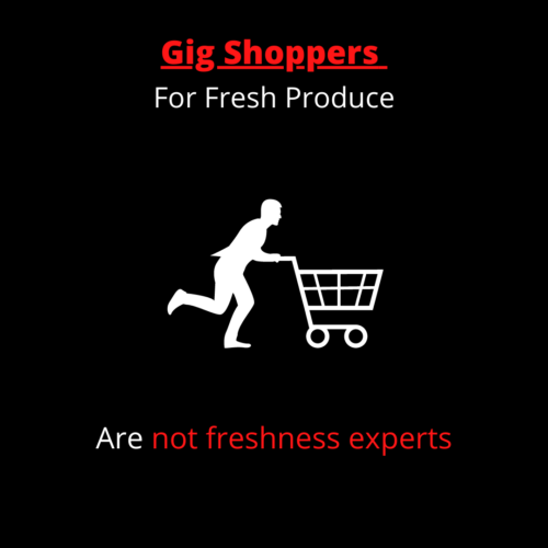 gig shoppers for fresh produce